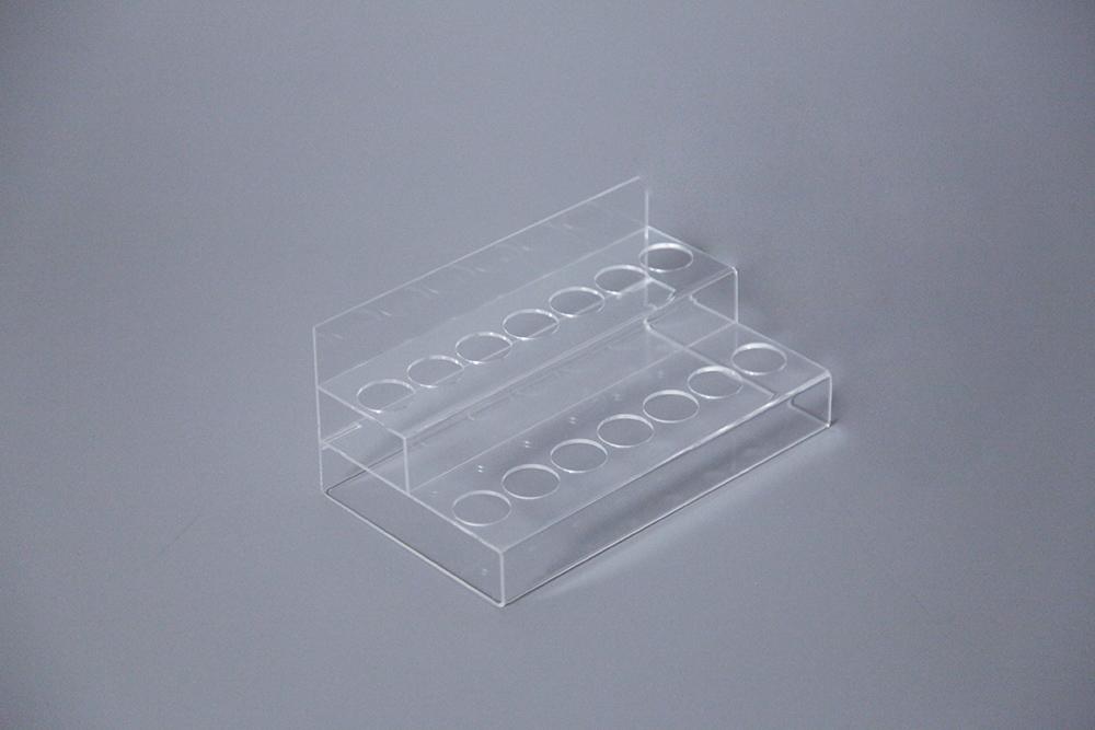 Porta-tubos de 2 níveis