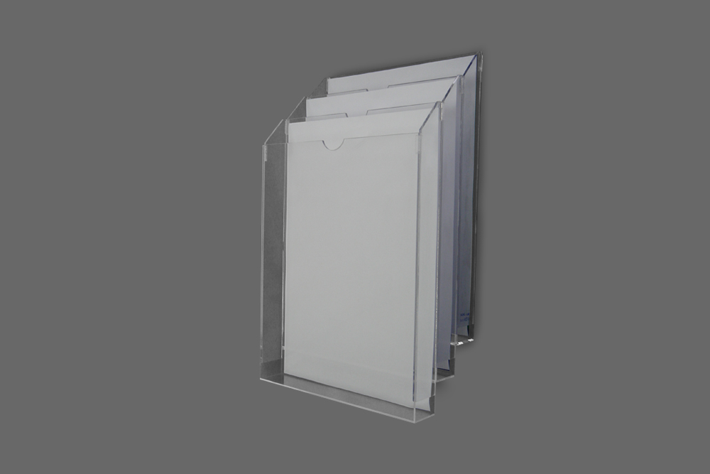 Display de parede com 3 compartimentos